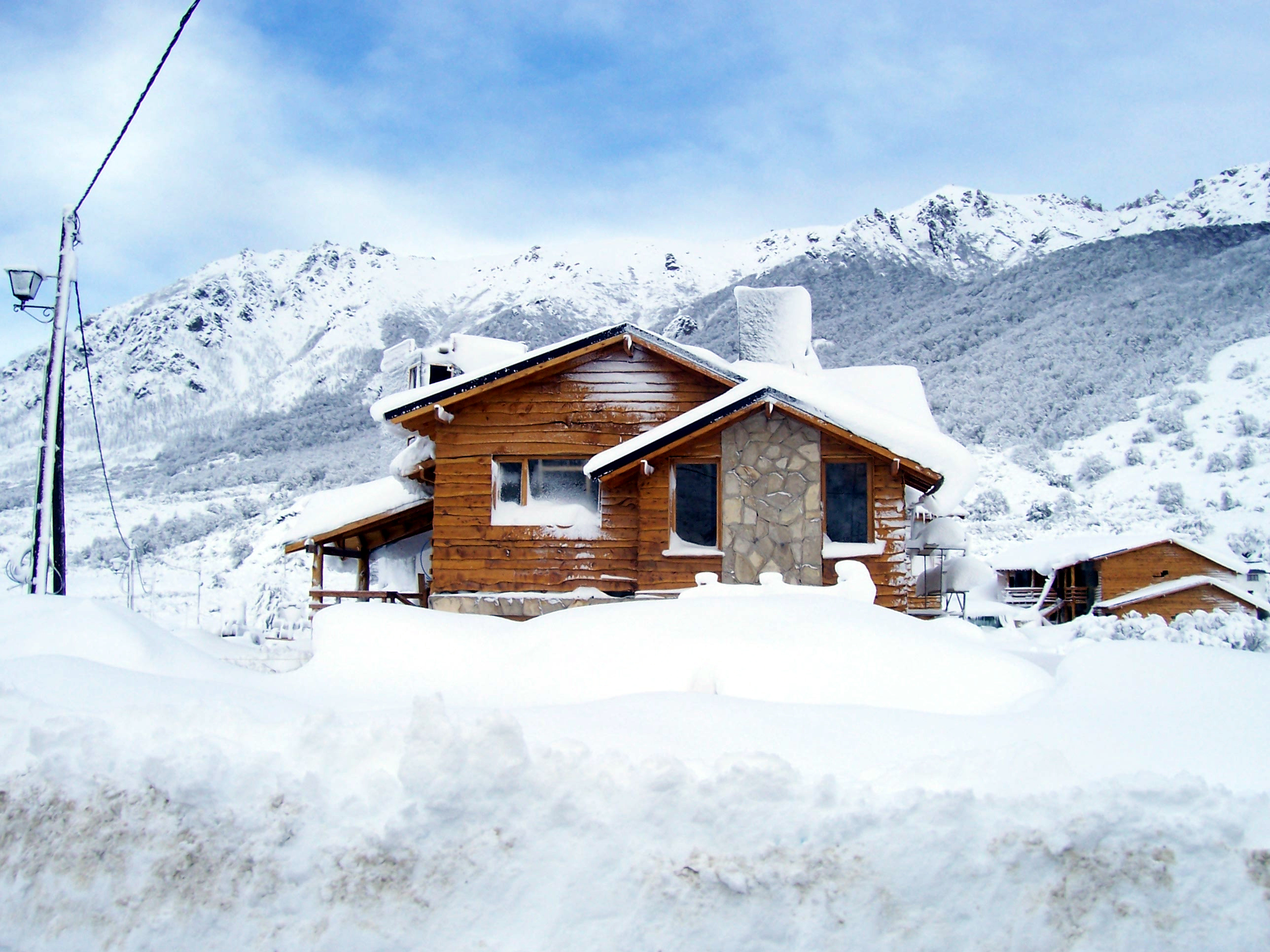 home in winter